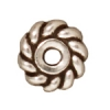 Spacer Heishi Twist 6mm Antique Silver